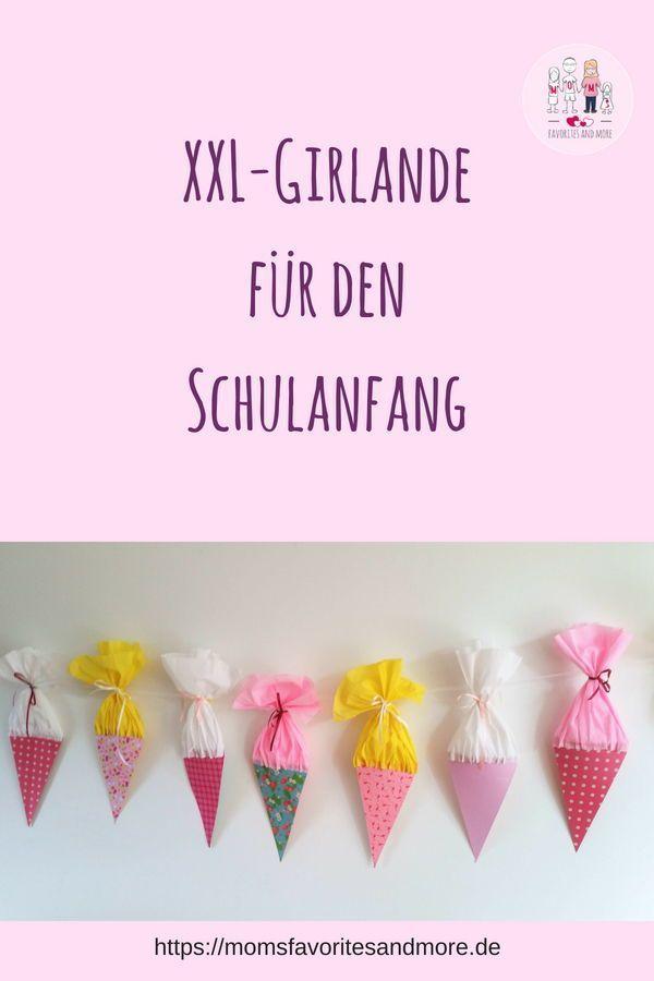 Dekoration zum Schulanfang: Einschulungs-Girlande in XXL