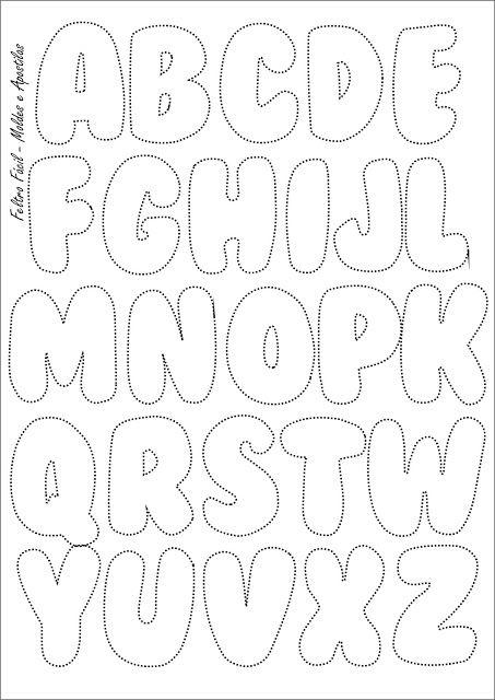 Abecedário Letras Do Alfabeto Para Imprimir Feltro Bubble