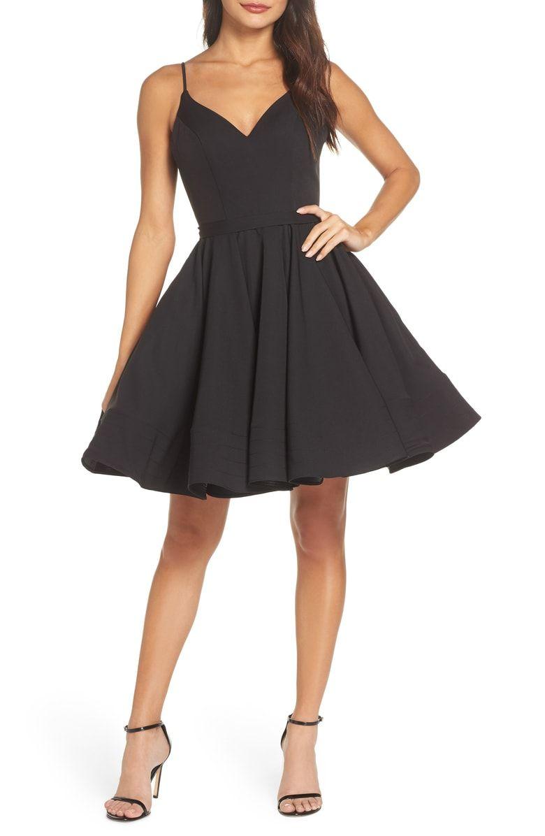 Ieena For Mac Duggal Fit Flare Cocktail Dress Nordstrom Fit And Flare Cocktail Dress Nordstrom Dresses Black Short Dress [ 1196 x 780 Pixel ]