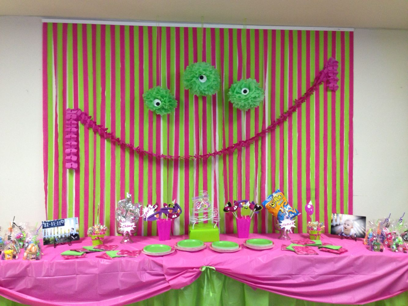 Monster party table.