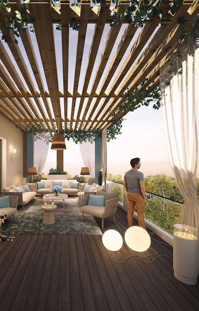 Balkonboden: Sehen Sie sich die wichtigsten Materialien an #Überdachungterrasse