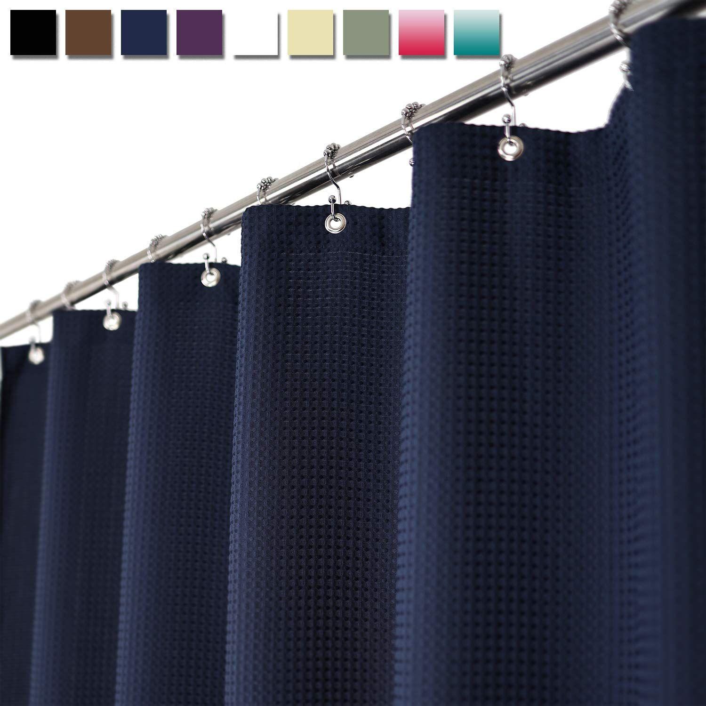 Barossa Design Waffle Weave Shower Curtain Hotel Luxury Spa 230