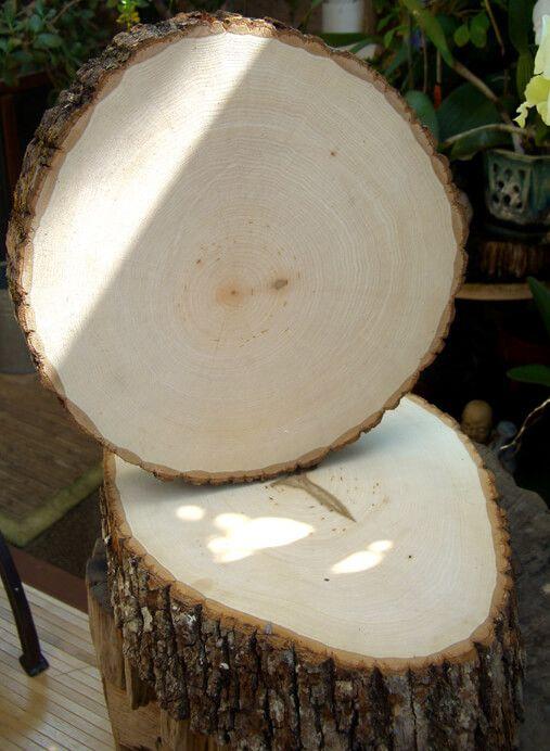 Tree Slice Large 9 12 X 1 Thick Wood Slabs Tree Slices Wood Slices Wood Slab