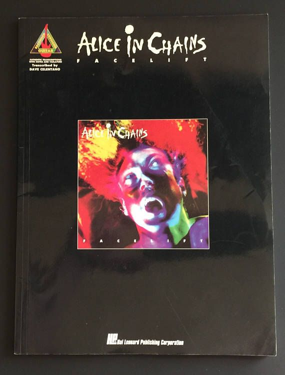 1991 Alice In Chains Facelift Guitar Recorded Versions Sheet