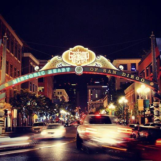 The #Gaslamp Quarter, San Diego, At Night. Come Explore