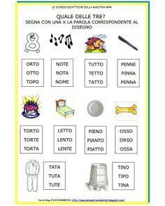 Schede classe i ita 1 learning italian italian for Parole capricciose esercizi