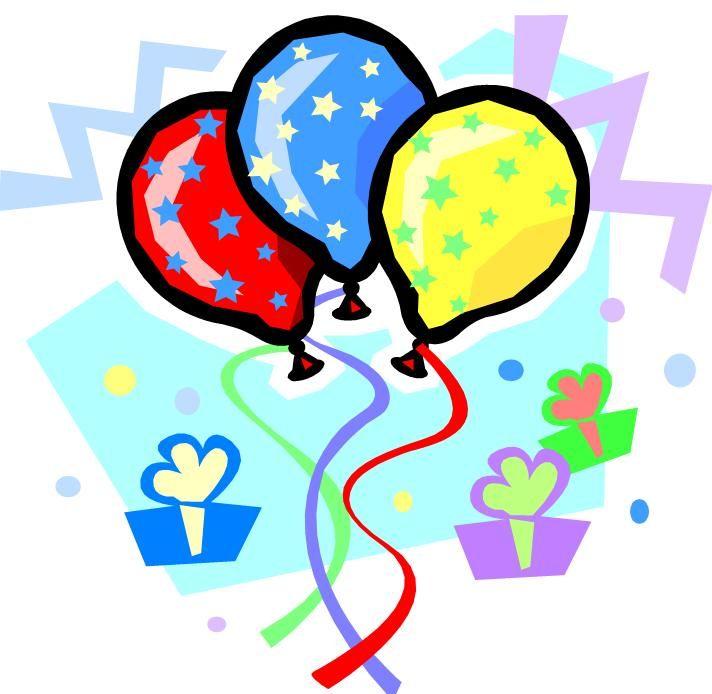 images of birthday balloons | Birthday Clip Art