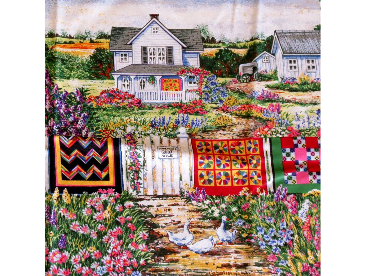 Wall Hanging Quilts diane phalen fabric, clothesline with quilts, fabric panel, pillow