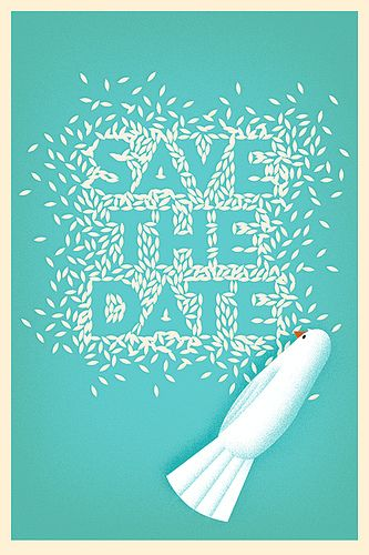 Save the Date in rice