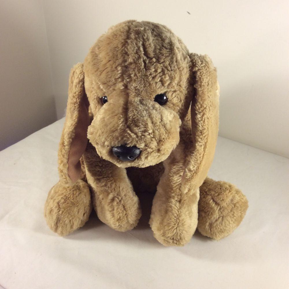 Gund 12 Puddles 5317 Tan Floppy Puppy Dog Plush Stuffed Animal
