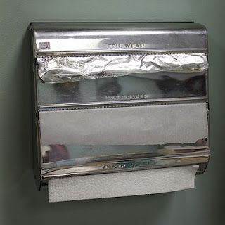 I remember these dispensers for aluminum foil and waxed paper.