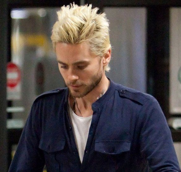 jared-leto-blond-hair-at-lax.jpeg (585×558) | Jared leto hot, Jared leto,  Spiked hair