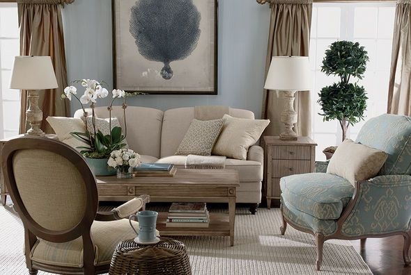 Casual and elegant living room ethan allen for Living room 983