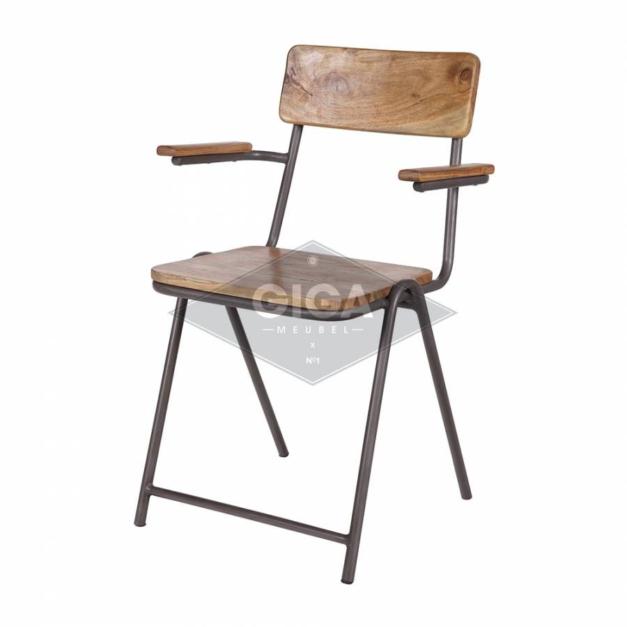 Indi Wooden Chair Met Armleuning  Home  Eating  Pinterest