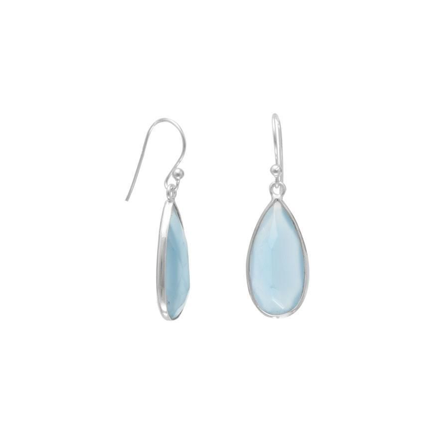 White Gold Opal Pear Stud Earrings .925 Sterling Silver Dainty Gift For Her Bridesmaid Bridal Wedding Jewelry Fashion Trend