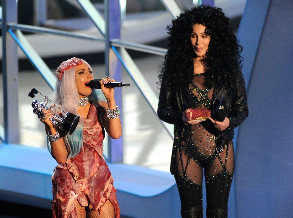 Cher En 20 Vestidos Meat Dress Lady Gaga Fashion