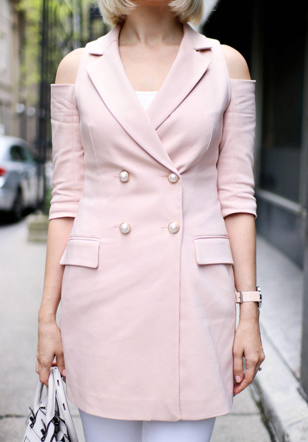 16a0b690cdf6 Dusty Pink Blazer Dress 💗 | Street Style // Casual & everyday style ...