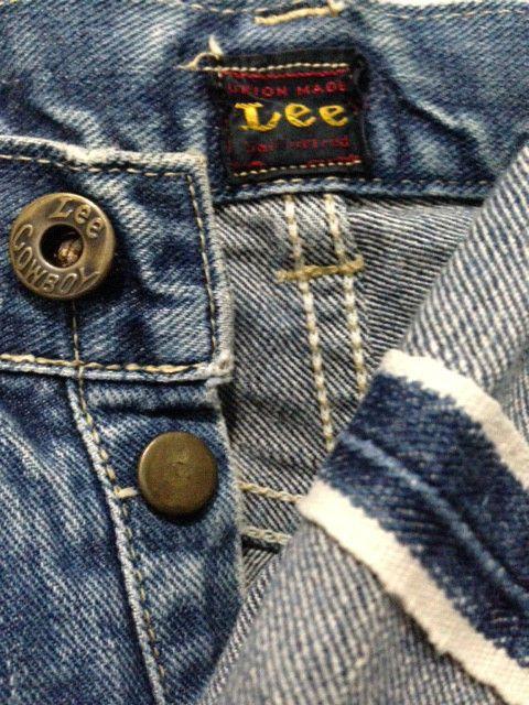 422b5ab5 Details about Vintage Lee Cowboy sanforized union made selvedge ...