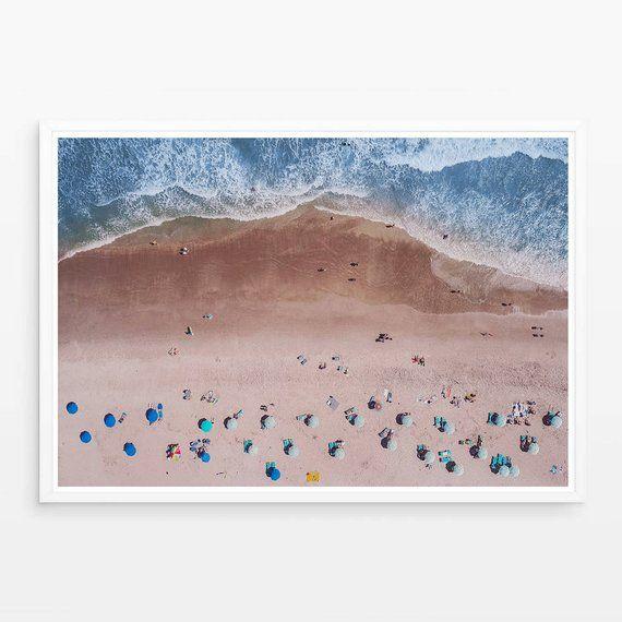 Beach Print Contemporary Beach Wall Art Digital Download Aerial