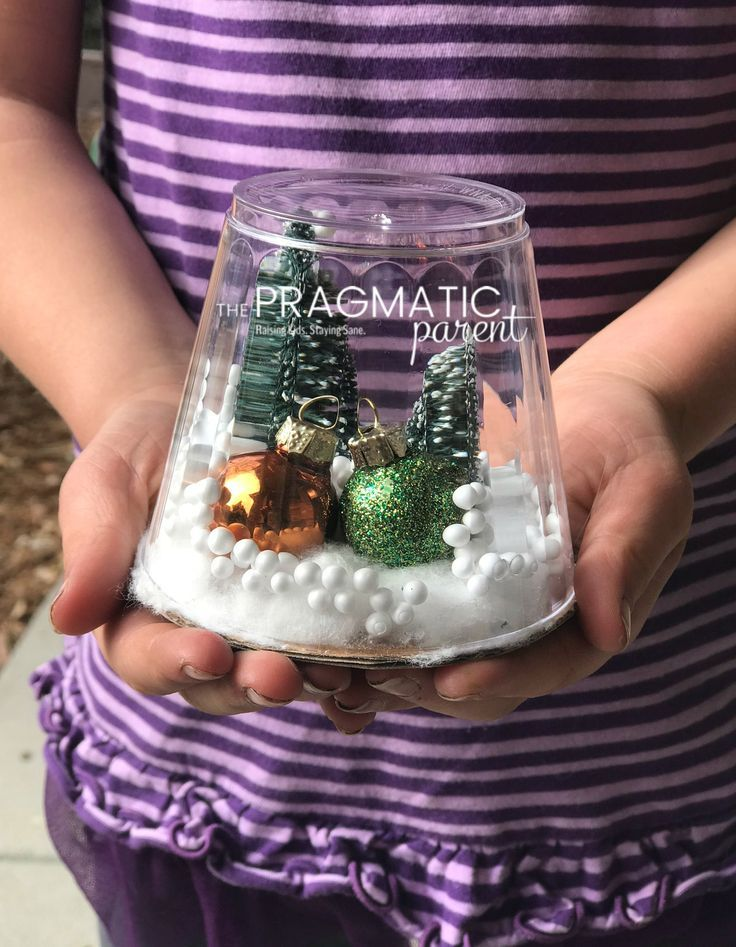 How to Make a Waterless Snow Globe Snow globe crafts