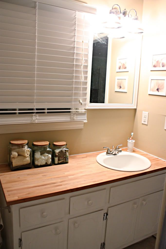 Replacing Bathroom Counter Top With Ikea Butcher Block With