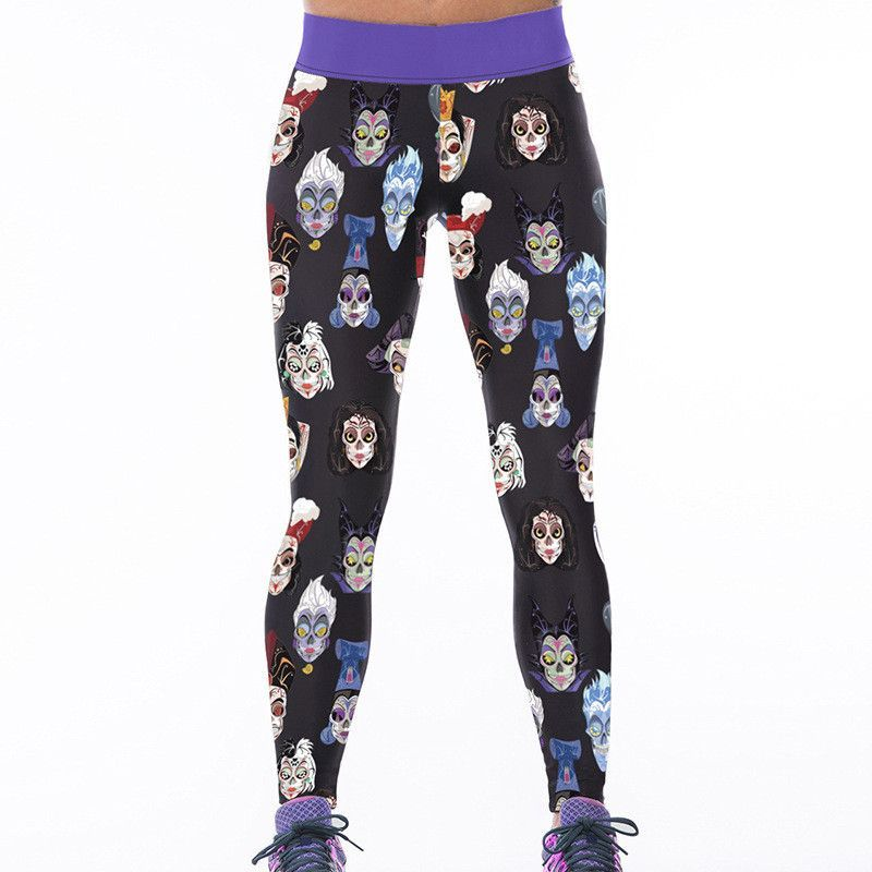 Hot dog digital printing Slim tall waist yoga leggings Women ...