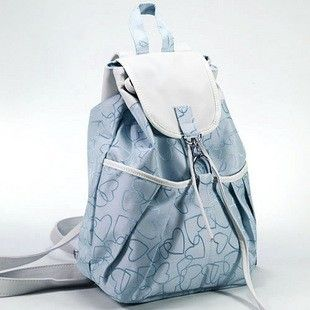 cute leather and canvas floral printing backpacks for teenage ...