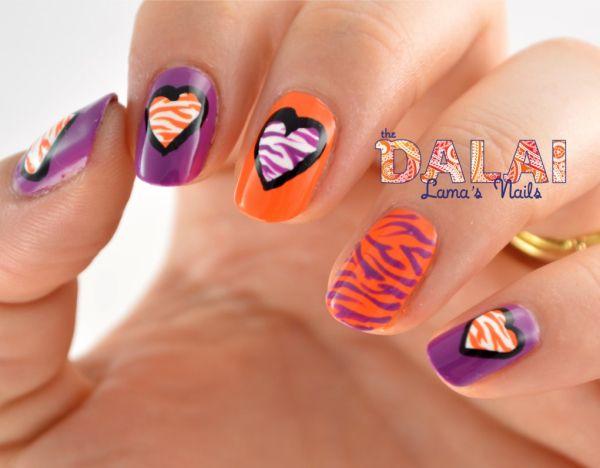 Tiger stripe nail design orange and purple clemson google search tiger stripe nail design orange and purple clemson google search prinsesfo Choice Image