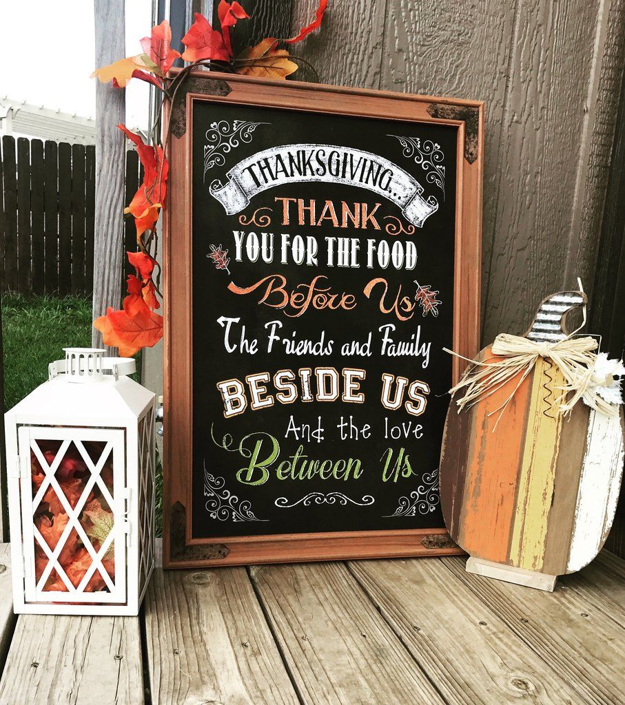 Extra Large Fall Chalkboard Sign