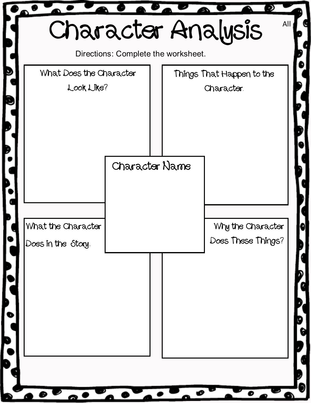 Ela Character Types Worksheets   Printable Worksheets and Activities for  Teachers [ 1650 x 1275 Pixel ]