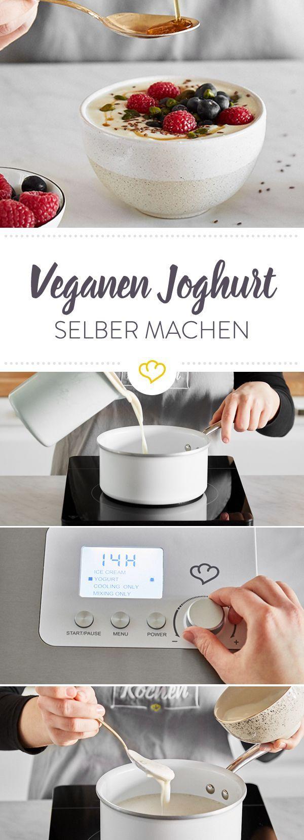 Veganer Joghurt So Gelingt Er Dir Mit Und Ohne Maschine Veganer Joghurt Joghurt Selber Machen Joghurt Selbst Herstellen