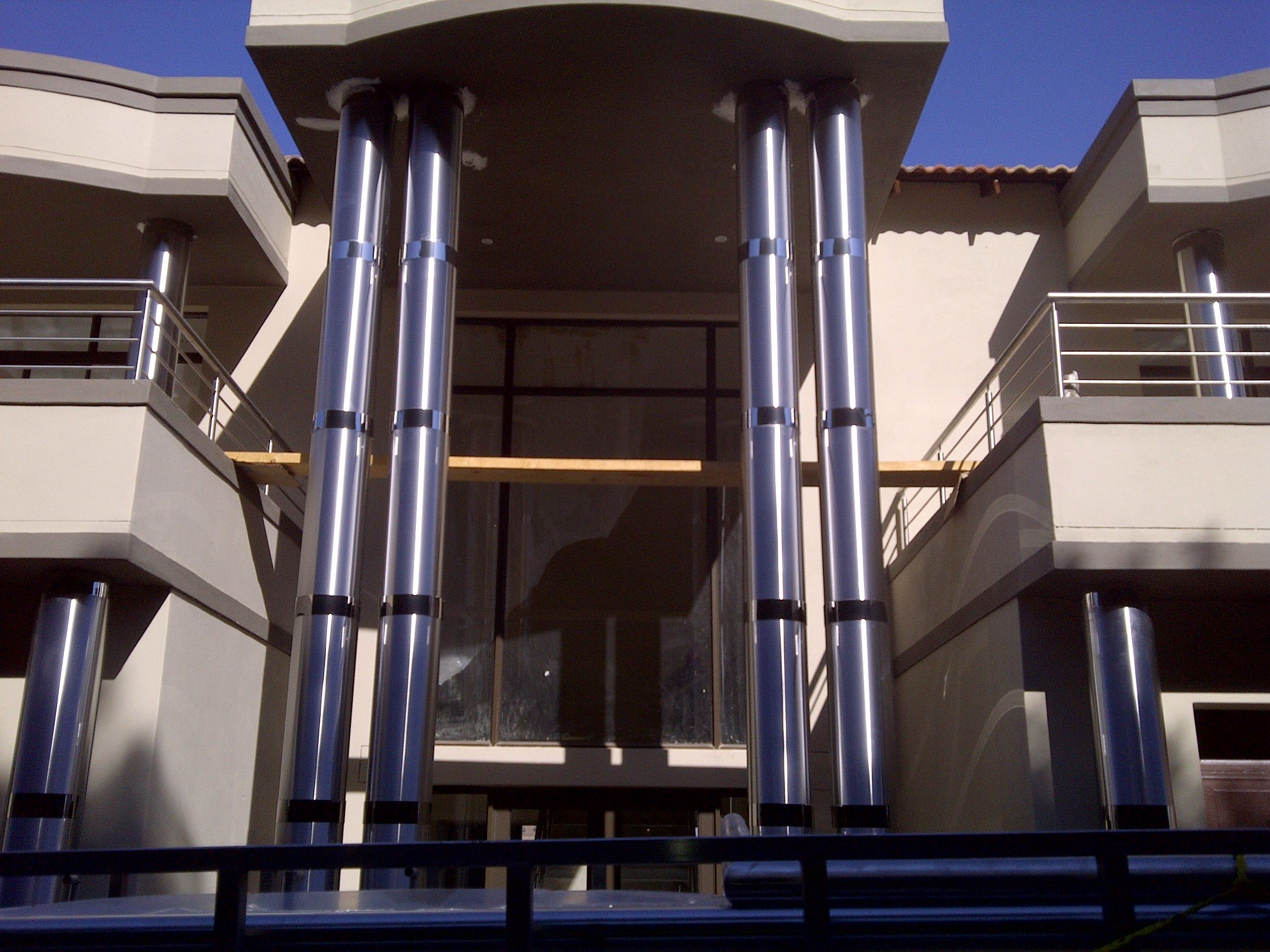 Stainless Steel Column Clad Double Volume Height Stainless