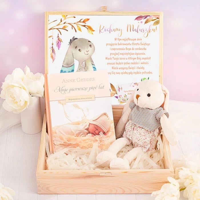 Skrzynka Prezent Na Chrzest Kroliczek Dla Chlopca Toddler Bed Toddler Decor