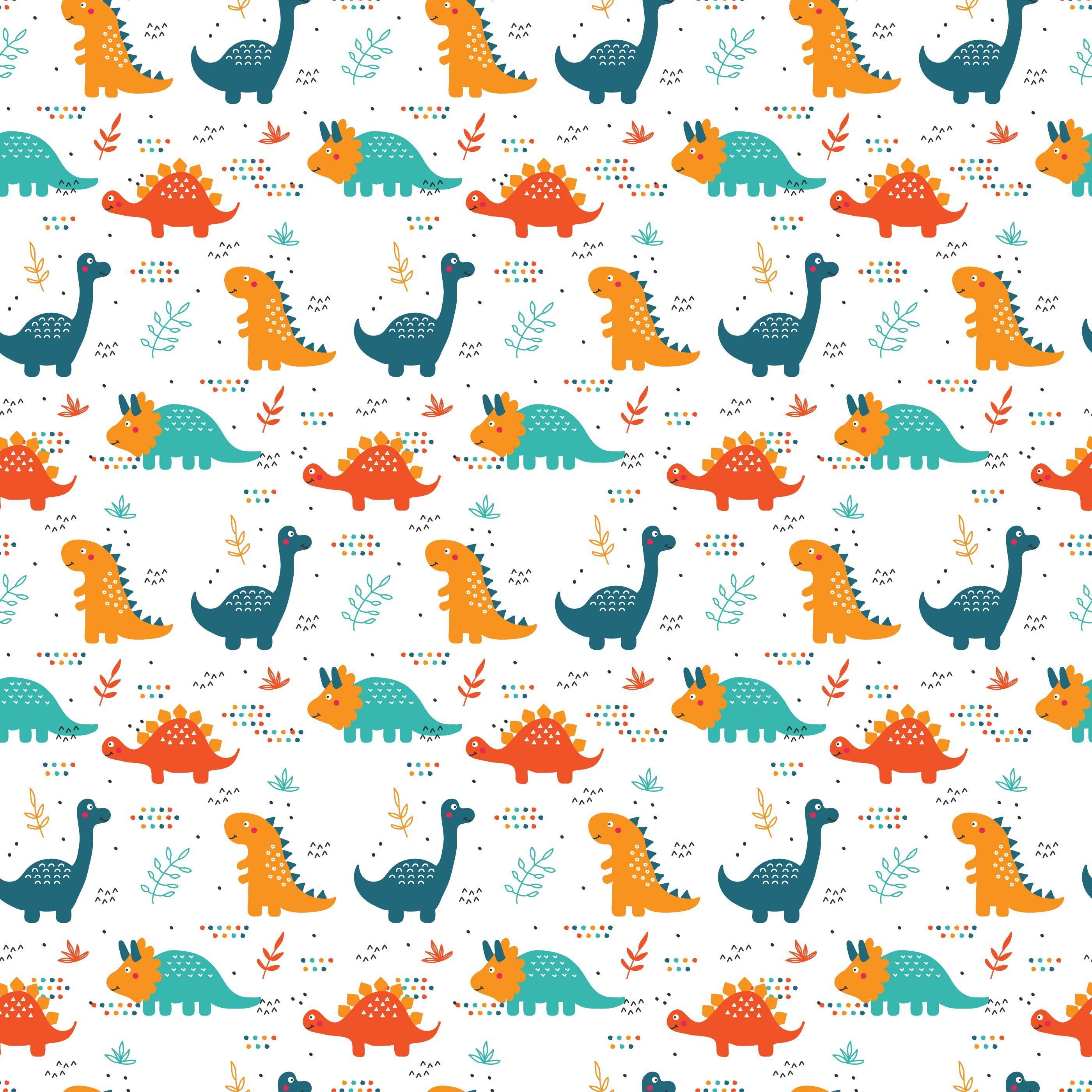 Dinosaurs Pattern Vector Dinosaur Pattern Free Vector Patterns Dinosaur Illustration