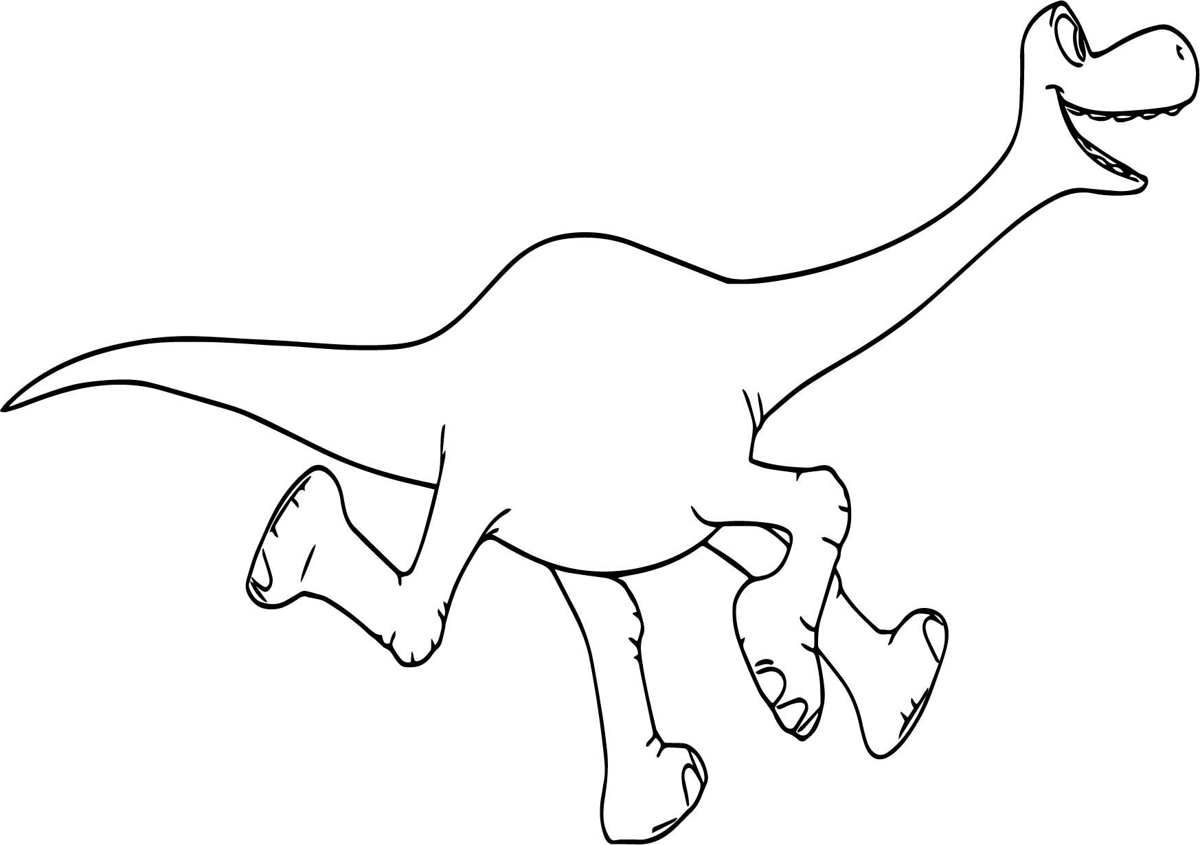 Awesome The Good Dinosaur Disney Arlo Run Cartoon Coloring Pages