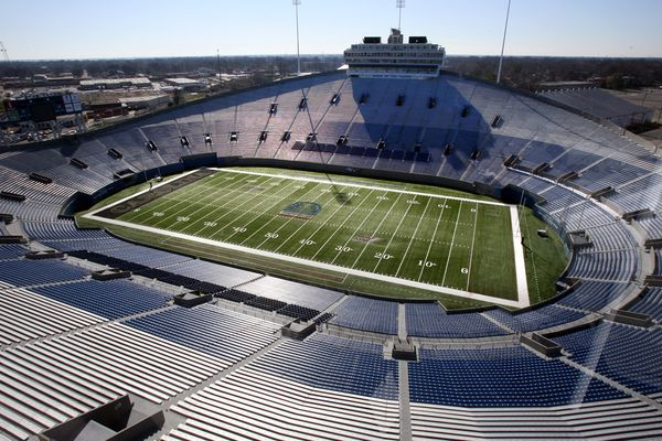 Liberty Bowl Memorial Stadium Memphis Tn University Of