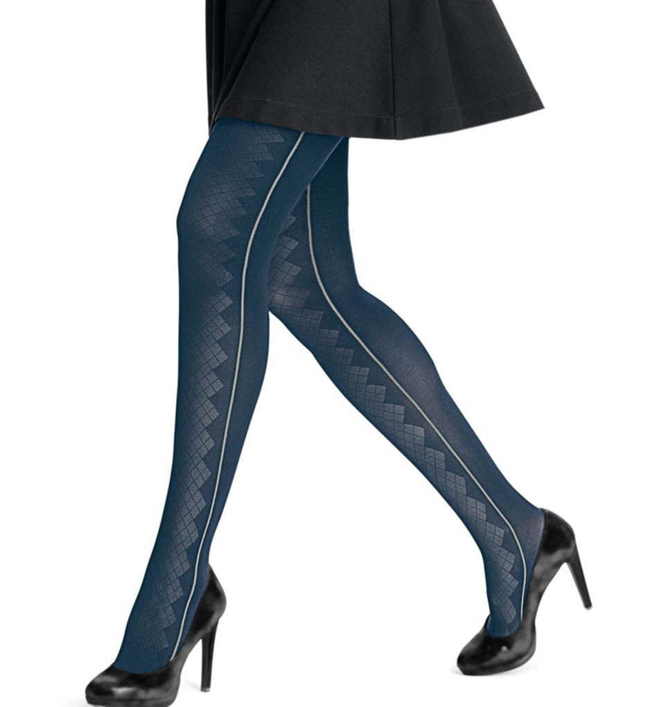 4.89$  Watch now - http://vihpl.justgood.pw/vig/item.php?t=u1ixoh27945 - Hanes Diamond Panel Tights Sapphire/Sleet Gray NWT 0B933 size Small 4.89$