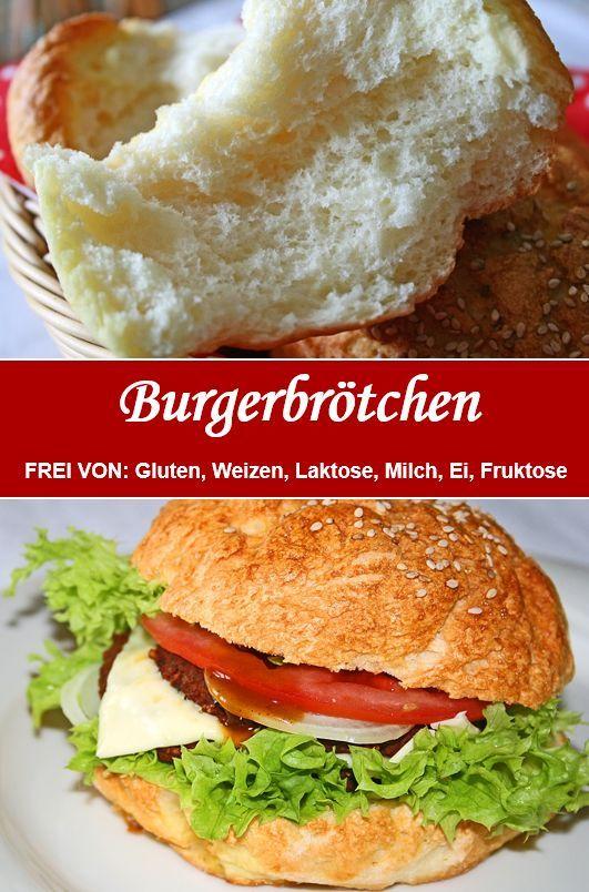 Fluffy - rolls / Burgerbrötchen  - BACKEN Tanja`s glutenfreies Kochbuch -