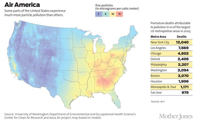 Maptitude Particulate Pollution In The United States Random - Air map us pollution