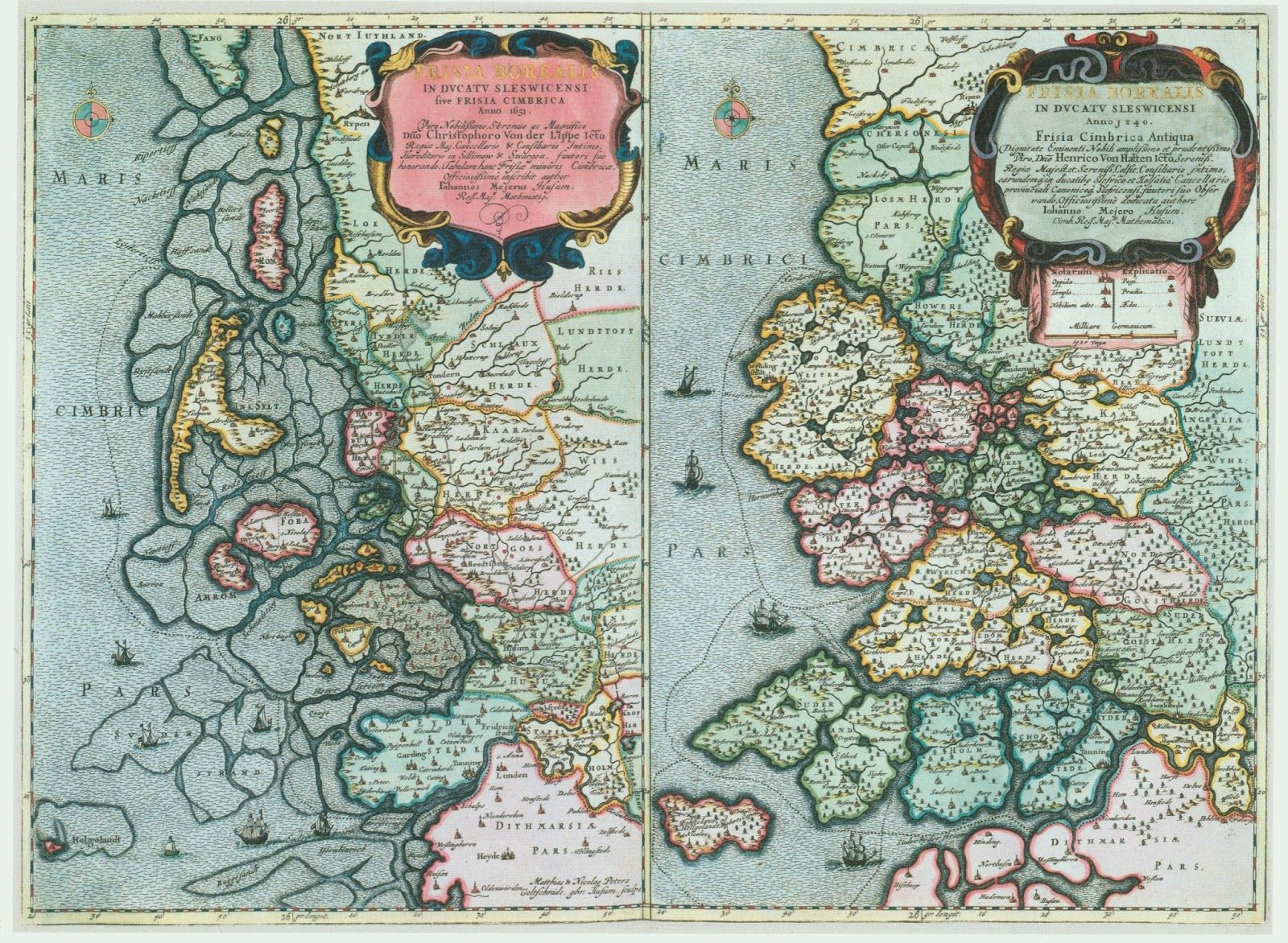 North Frisian coast Netherlands in 1651 an