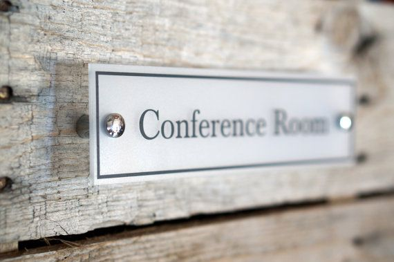 door name plate acrylic conference room sign office decor wall sign