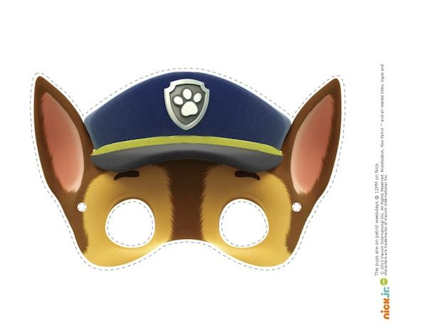 Witty image with paw patrol printable masks