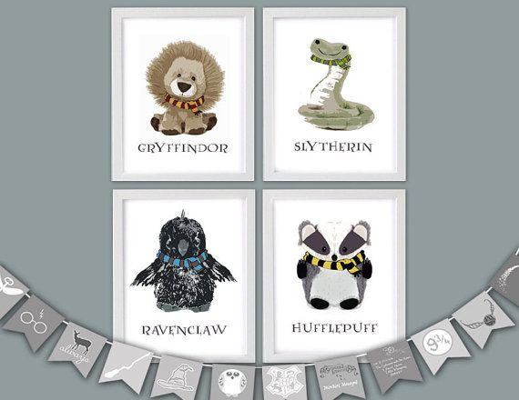 Hey, I found this really awesome Etsy listing at https://www.etsy.com/listing/489815763/harry-potter-nursery-art-hogwarts-house