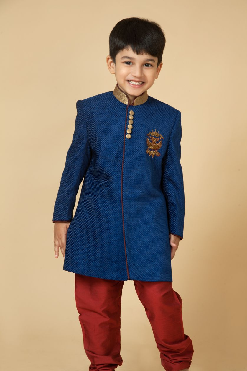 71ccb447e5 Velvet sherwani with zardozi embroidery. Item number KB15-01. Find this Pin  and more on Kids Wear Collection 2015: Boys ...