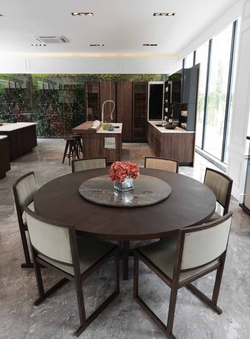 Pin By Excella Global On Dining Concepts In 2019 Circular Dining Table Dinner Room Restaurant Interior Design