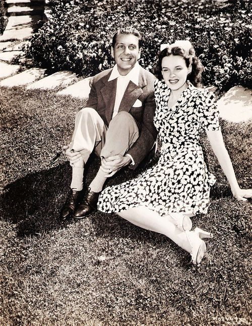 Judy Garland with her first husband Composer David Rose.  3074fe8f0