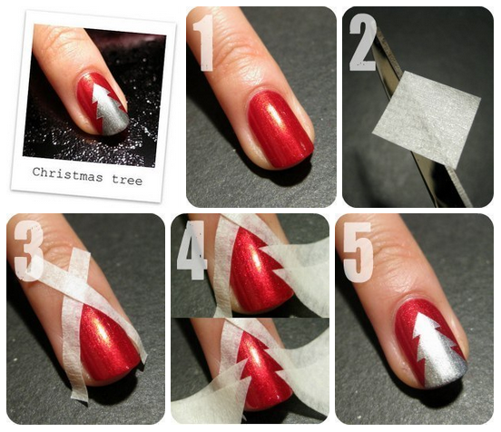 21 easy holiday nail designs christmas nail art designs and makeup 21 easy holiday nail designs prinsesfo Images