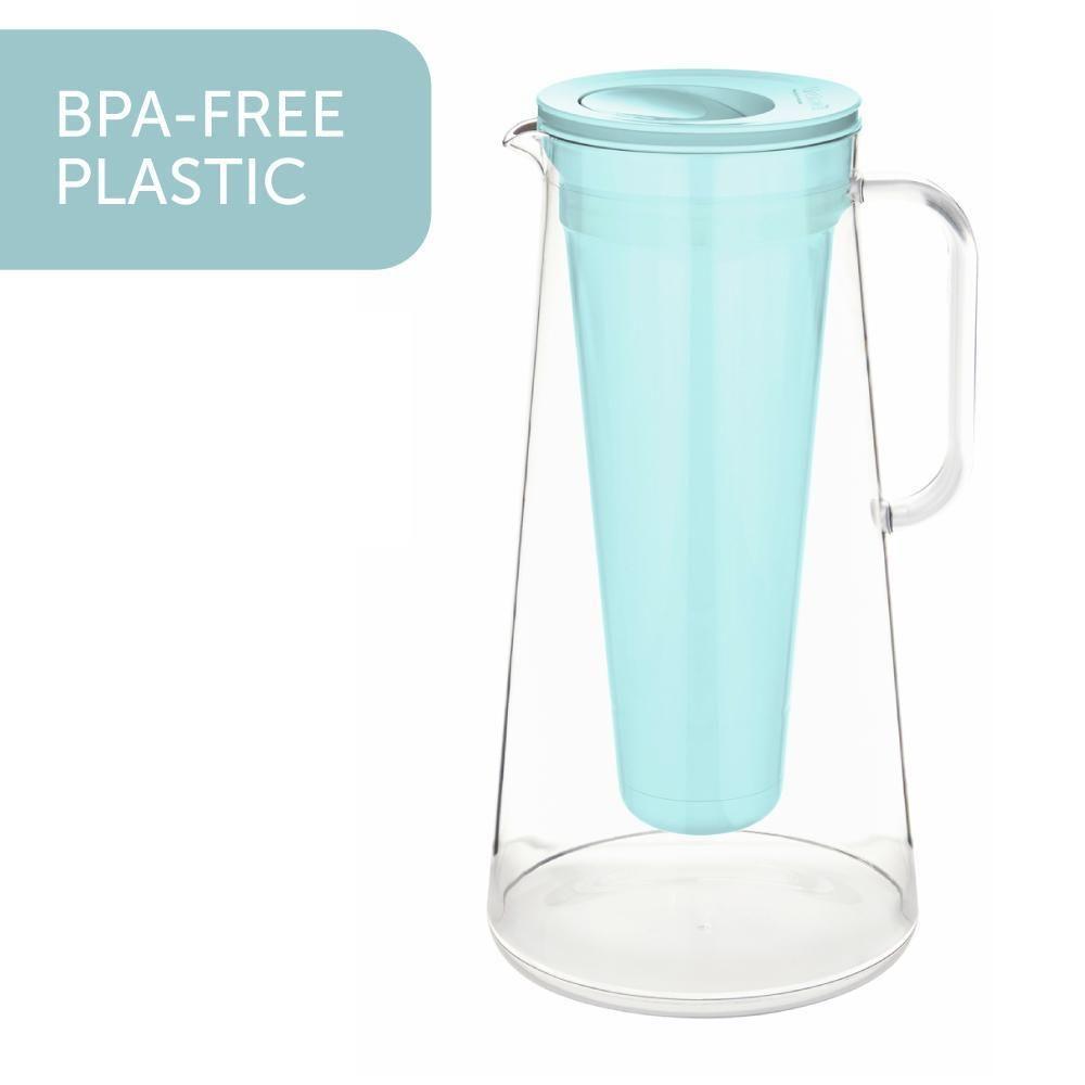 Lifestraw Home Glass Cobalt Blue Water Filter Pitcher