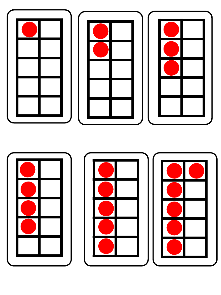 Subitising Ten Frames  K  Math Activities    Ten