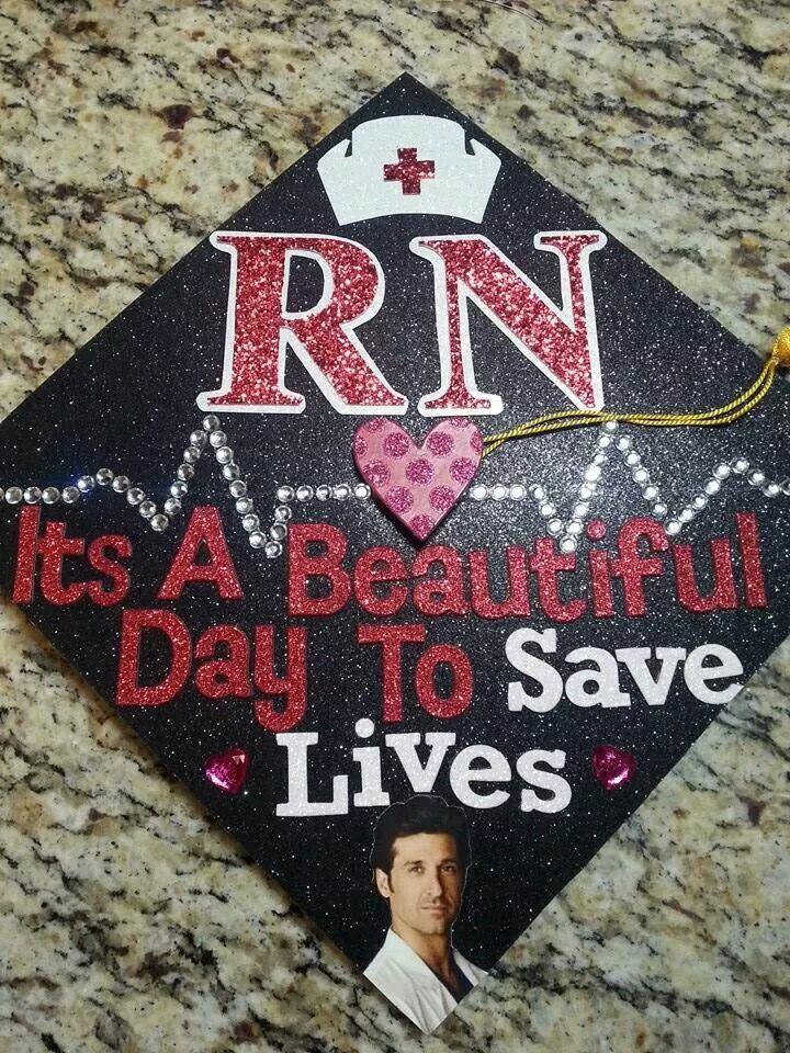 My nursing graduation cap!! Greys anatomy! McDreamy ...